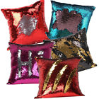 US Mermaid Glitter Sequins Pillow Cover Cases Home Car Sofa Cushion Covers Decor image