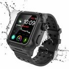 360° Waterproof Case Cover Silicone Band Strap For 44mm Apple iWatch Series 4 image
