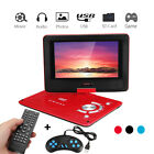 9.8'' Portable Rechargeable DVD Player Swivel Screen Remote Control Gamepad