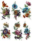 6 Meissen Wild Flower Sprays Select-A-Size Waterslide Ceramic Decals  272 Bx image