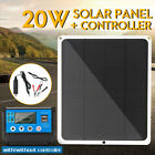 20W Solar Panel Dual USB 12V 5V Battery Charger Controller for Outdoor Car Ship