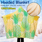 US Pineapple Dolphin Hooded Blanket 3D Printed Warm Wearable Plush Mat Thick Nap image
