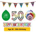 Age 50 - Happy 50th Birthday Party Balloons Banners & Decorations