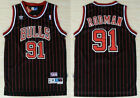 Chicago Bulls #91 Swingman Rodman Basketball Jersey Black-Red Size: S - XXL on eBay