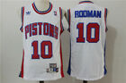 New Detroit Pistons #10 Dennis Rodman Basketball Jersey Mesh White Size: S -XXL on eBay