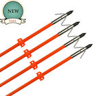 "32 ""Bowfishing Arrows with Broadheads Arrowhead Hunting Fish Fibergalss Shaft"