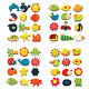 12Pcs Cartoon Animal Educational Toys Fridge Magnet Toy DIY Home Decor Random