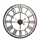 80CM Large Outdoor Garden Wall Clock Big Roman Numerals Giant Open Face Metal