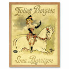 Guillaume Folies Bergere Lona Barrison Advert Framed Wall Art Poster