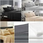 Egyptian Comfort Queen or King Twin Full 100% Cotton Bed Sheet Deep Pocket Set  image