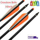 """Crossbow Bolts Arrows Fiberglass Arrow Shaft with 4"""" Vanes Feather and Replace B"""