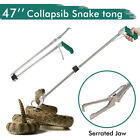 "47"" Collapsible Snake Tongs Catcher+40"" Snake Hook Reptile Grabber Handling Tool"