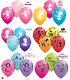 "6 x 27.5cm (11"") Disney Character Printed Qualatex Latex Balloons-Party Children"