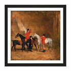 Benjamin Marshall Foxhunting Scene Square Framed Wall Art 16X16 In