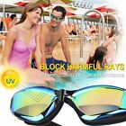 Wide View Swim Goggles Anti-Fog UV Protection No Leaking 3D Memory Silicone