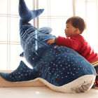Blue Whale Giant Huge Soft Stuffed Animal Plush Doll Big Shark Pillow Party Toy