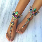 Crystal Foot Jewelry Ladies Barefoot Sandals Beach Wedding Anklet Chain Gift image
