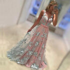 CA Womens Bridesmaid Lace Dress Long Evening Party Formal Wedding Ball Prom Gown