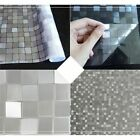 Frosted Glass Film Stickers Static 3D Plastic Paper Heat Insulation For Window