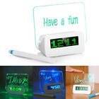 Digital Alarm Clock with LED Luminous Message Board with 1/4 USB Ports