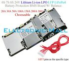 6S 7S 8S 24V Lithium Li ion LFP LiFePo4 Battery Protection BMS Board W Balance