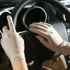 Fashion Summer Drive Women's Sun Protection Wrist Gloves  Mittens Dot Elastic