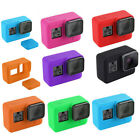 Shockproof Silicone Protective Case Cover + Lens Cap For Gopro Hero 7 Camera