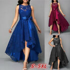 Womens Long Bridesmaid Lace Dress Party Dresses Formal Wedding Slim Fit Cocktail