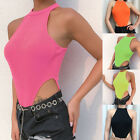 Women Lady Knitted Shoulder Halter Back Vest Bodysuit Sleeveless Sexy Summer Top