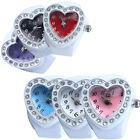 DV_ Lovely Lady Girl Silicon Heart-shaped Elastic Quartz Finger Ring Watch Gift  image