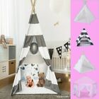 Portable Children Canvas Indian Teepee Play Tent For Girls & Boys Playhouse Gift