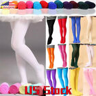 Girl Stretch Stockings Kid Hosiery Dance Ballet Footed Tights Pantyhose Socks US