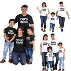 USA New Mama Kids Papa Bear Family Matching Outfits T-Shirt Baby Dad Son Clothes