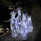 Solar Powered Wine Bottle Lights 20 LED Waterproof  Copper Cork Shaped Lights