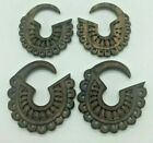 Trible carved wood earring hangers Pair (2Pcs)