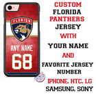 FLORIDA PANTHERS HOCKEY JERSEY PHONE CASE COVER NAME & # FOR iPHONE SAMSUNG LG $18.98 USD on eBay