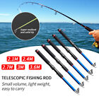 1x Portable Carbon Fiber Travel Telescopic Fishing Rod Retractable Folding Poles