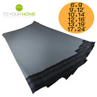 10 Grey Mailing Bags 50% Recycled Plastic Self Seal Strong Postal Poly