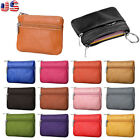 Fashion Women Men Leather Coin Purse Wallet Clutch Zipper Small Change Soft Bag image