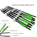 """Aluminum Arrows Hunting Crossbow Bolts with Fletched 4""""Vanes & Field Points"""