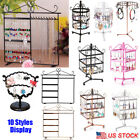 Kyпить Metal Earring Necklace Jewelry Display Stand Holder Show Rack Rotating Organizer на еВаy.соm