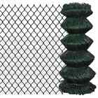 Outdoor Garden Galvanized Steel Chain Link Fence Fencing Roll 15m / 25m Green UK