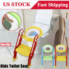 Anti-Slip Toddler Toilet Chair Step Stool Ladder Kids Safety Potty Training Seat image