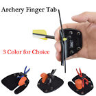 Archery Leather Finger Tab Protector Finger Guard Adjustable for Shooting