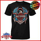 FREESHIP Harley Davidson B&S Eagle T-Shirt Black Men's Tee S-6XL Limited image