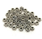 antiqued silver Tibetan style 5mm rondelle beads
