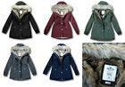 NWT Hollister by Abercrombie&Fitch Stretch Faux Fur Lined Parka Jacket Coat