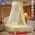 Mosquito Net Curtain Canopy Ceiling Tent Hook Dome Full Bed Queen Foldable US image