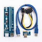 6Pin Express USB 3.0 PCI-E 1x to 16x Extender Riser Card Adapter Power Cable