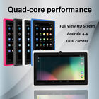 7Inch 8GB Student Business Tablet PC Android 4.4 Quad-Core HD Dual Camera WIFI